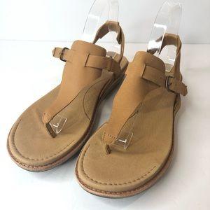 TEVA Encanta Thong V-Strap Tan Sandal Size 10